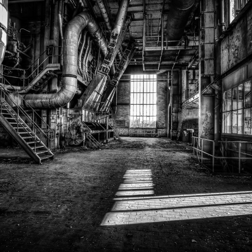 lost places - grimace of industry